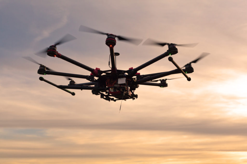 Professional copter for shooting photos and videos